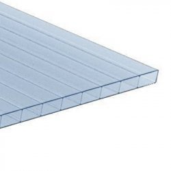 ACRYL Doppelstegplatte - Struktur glatt - 1200mm breite - 16mm Stärke - lichtblau / hellblau