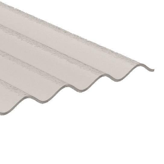 ACRYL Sinusplatte 76/18 - Struktur C - glasklar/ transparent