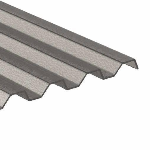 ACRYL Sinusplatte 76/18 - Struktur Wabe - bronze/ braun