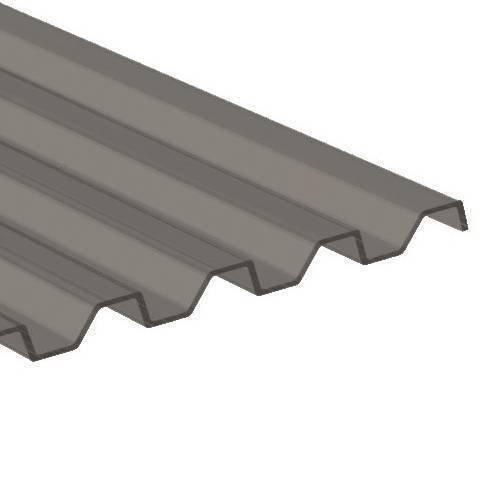 PC Trapezplatte 76/18 - Struktur glatt - silbermetallic