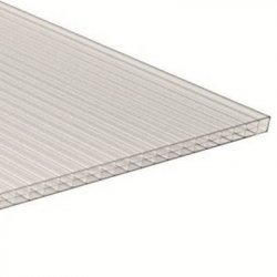 PC Dreifachstegplatte - Struktur glatt - 980mm breite - 16mm Stärke - glasklar / transparent