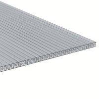 PC Dreifachstegplatte - X-Struktur - 1200mm breite - 16mm Stärke - glasklar / transparent - Stegdreifachplatte VLF-SDP16-PCX - glasklar / transparent