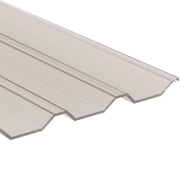 PC Trapezplatte 20/1100 - Struktur glatt - glasklar/ transparent