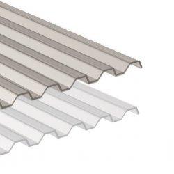 PC Lichtplatten - Struktur glatt - Trapezprofil
