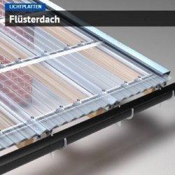 Flüsterdach - Aluminium Verlegesystem / Unterkonstruktion - Verlegesystem für einschalige Lichtplatten