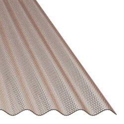 ACRYL Lichtplatte - Struktur Wabe - Sinus 76/18 - Stärke 3,0mm - bronze / braun
