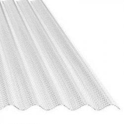 ACRYL Lichtplatte - Struktur Wabe - Sinus 76/18 - Stärke 3,0mm - glasklar / transparent