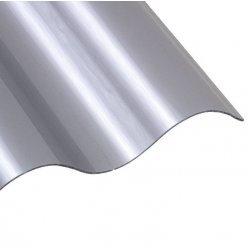 PC Sinusplatte - unstrukturiert - Athermic / silbermetallic
