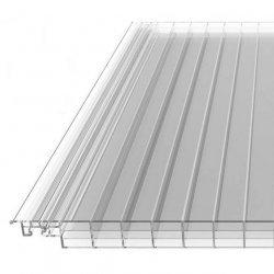 PC Click 16 Paneel - Struktur Eis Effekt - 270mm breite - glasklar / transparent