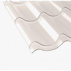 PC Lichtplatte - PC Pfannenprofil TYP 2/1060 - 800mm Länge -  1,00mm Stärke - glasklar / transparent