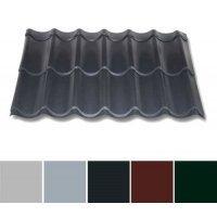 Pfannenblech Aluminium - Pfannenprofil TYP 2/1060 - 0,70mm Stärke - 25 µm Polyester - Aluminium - Pfannenprofil - Typ 2 / 1060