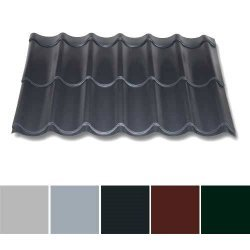 Pfannenblech Aluminium - Pfannenprofil TYP 2/1060 - 0,70mm Stärke - 25 µm Polyester
