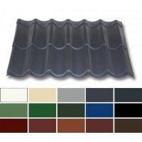 Pfannenblech Stahl - Pfannenprofil TYP 2/1060 - 0,50mm Stärke - 25 µm Polyester - Stahl - Pfannenprofil - Typ 2 / 1060