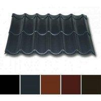 Pfannenblech Stahl - Pfannenprofil TYP 2/1060 - 0,50mm Stärke - 35 µm Matt Polyester - Stahl - Pfannenprofil - Typ 2 / 1060