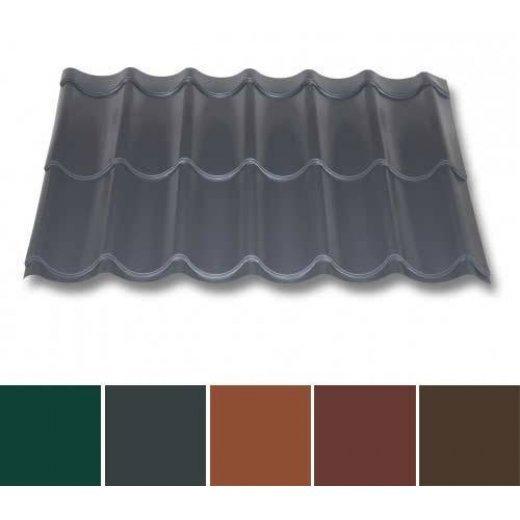 Pfannenblech Stahl - Pfannenprofil TYP 2/1060 - 0,50mm Stärke - 60 µm TTHD - Stahl - Pfannenprofil - Typ 2 / 1060
