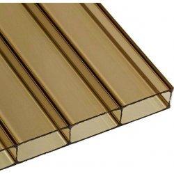 ACRYL Doppelstegplatte - Struktur glatt - 1200mm breite - 16mm Stärke - bronze / braun