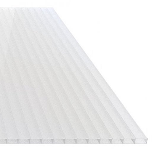 ACRYL Doppelstegplatte - Struktur glatt - 1200mm breite - 16mm Stärke - opal / weiss - opal / weiss