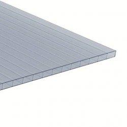 PC Dreifachstegplatten - Struktur Kristall - 16mm - Crystal-Blue / lichtblau