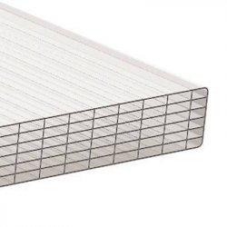PC Stegsiebenfachplatte - Struktur glatt - 980mm breite - 25mm Stärke - opal / weiss