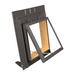 Dachfenster - Dachausstiegsfenster mit Metalleindeckrahmen - 520 x 450mm