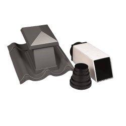 Sanitärentlüfter - Formteil aus Kunststoff - Lüftung im Pfannenbereich