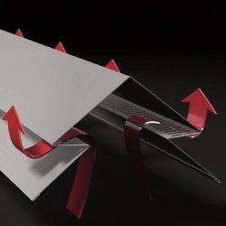 Selbstentlüftender First - 2000mm Länge - 0,50mm Stärke - 25µm Polyester