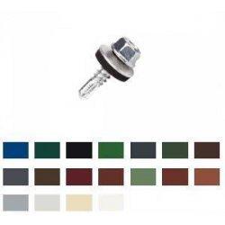 Edelstahlschrauben A2 - Sechskant - 6,0 X 38mm - E19 - farbig  - 100 Stück