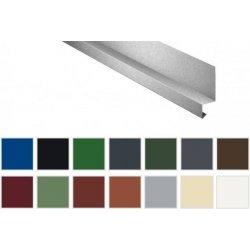 Sockelleiste - Stahl - 2000 x 50 x 25 x 20mm - 100° - 0,50mm Stärke - 25µm Polyester