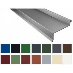Sohlbank - Stahl - 2000 x 50 x 115 x 40mm - 100° - 0,50mm Stärke - 25µm Polyester