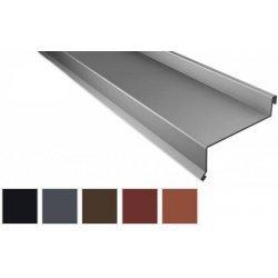 Sohlbank - Stahl - 2000 x 50 x 115 x 40mm - 100° - 0,50mm Stärke - 35µm Mattpolyester