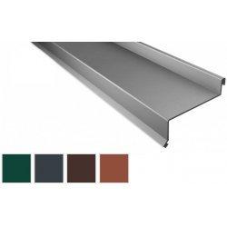 Sohlbank - Stahl - 2000 x 50 x 115 x 40mm - 100° - 0,50mm Stärke - 60µm TTHD
