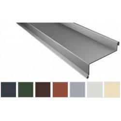 Sohlbank - Stahl - 2000 x 50 x 115 x 40mm - 100° - 0,63mm Stärke - 25µm Polyester