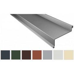 Sohlbank - Stahl - 2000 x 50 x 115 x 40mm - 100° - 0,75mm Stärke - 25µm Polyester