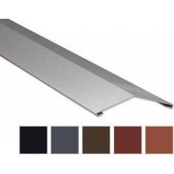 Firstblech flach - Stahl - 2000 x 145 x 145mm - 0,50mm Stärke - 35 µm Mattpolyester