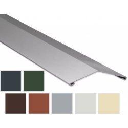 Firstblech flach - Stahl - 2000 x 145 x 145mm - 0,75mm Stärke - 25 µm Polyester