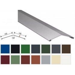 Firstblech flach - Stahl -  2000 x 145 x 145mm - 0,50mm Stärke - 25 µm Polyester