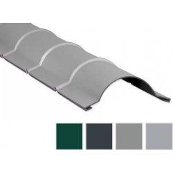 Firstblech halbrund - Aluminium - 1860mm - 0,70mm Stärke - 25 µm Polyester