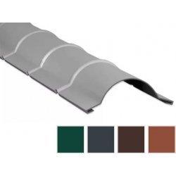 Firstblech halbrund - Stahl - 1860mm - 0,50mm Stärke - 60 µm TTHD