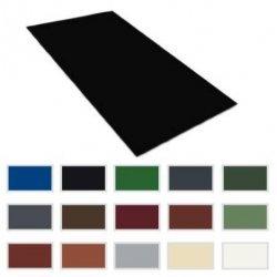 Flachbleche - Stahl - 0,50mm Stärke - Breite  1250mm - 25µm Polyester Beschichtung