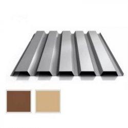 Trapezblech Stahl - Wandprofil W35/1100 - 0,50mm Stärke - 35 µm Strukturpolyester - Holzoptik