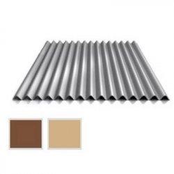 Wellblech Stahl - Wandprofil W1/1120 - 0,50mm Stärke - 35 µm Strukturpolyester - Holzoptik