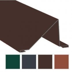 Schneefangblech Traufenbereich - Aluminium - 0,70mm Stärke - 2000mm Länge - 25µm Polyester