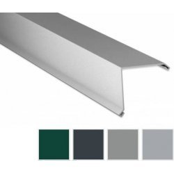 Ortgangwinkel - Aluminium - 2000 x 115 x 115mm - 90° - 0,70mm Stärke - 25 µm Polyester