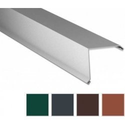 Ortgangwinkel - Stahl - 2000 x 115 x 115mm - 90° - 0,50mm Stärke - 60 µm TTHD