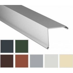 Ortgangwinkel - Stahl - 2000 x 115 x 115mm - 90° - 0,75mm Stärke - 25 µm Polyester