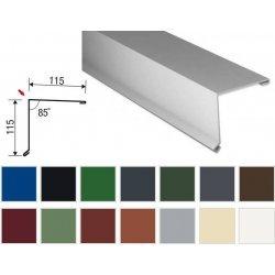 Pultabschluss - Stahl - 2000 x 115 x 115mm - 80° - 0,50mm Stärke - 25µm Polyester