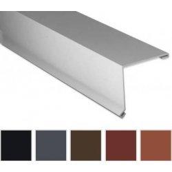 Pultabschluss - Stahl - 2000 x 115 x 115mm - 80° - 0,50mm Stärke - 35µm Polyester