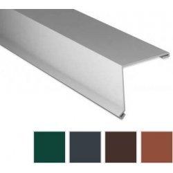 Pultabschluss - Stahl - 2000 x 115 x 115mm - 80° - 0,50mm Stärke - 60µm TTHD