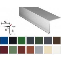 Traufenblech - Stahl - 2000 x 50 x 50mm - 90° - 0,50mm Stärke - 25 µm Polyester