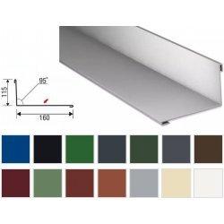 Wandanschluss - Stahl - 2000 x 160 x 115mm - 95° - 0,50mm Stärke - 25µm Polyester